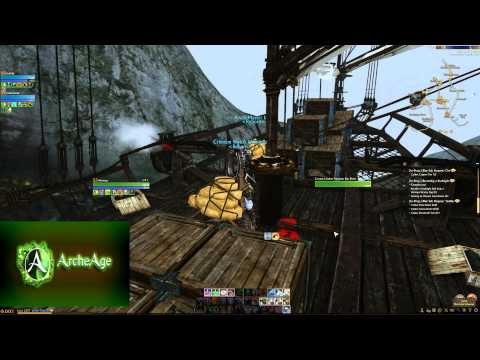 Archeage- Merchant Ship- Rookborne to Falcorth Trade run