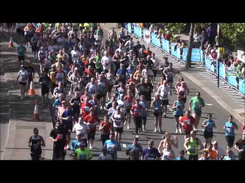 BUPA London 10K The masses passing, can you spot yourself 10,000 metres 27th May 2013.