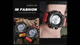 2020 SANDA цифровые часы Aliexpress мужские люксовые брендовые военные часы модные мужские