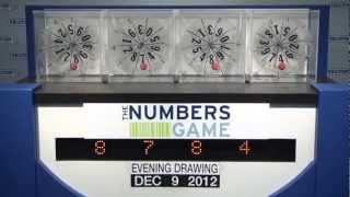 Evening Numbers Game Drawing: Sunday, December 9, 2012