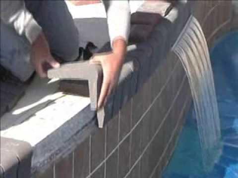 Pool Coping on Concrete using Mason Bond Masonry Adhesive ...