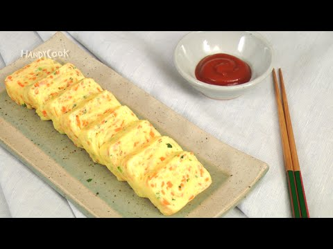 Korean rolled egg omelette(ENG SUB)- 달걀말이(영문자막)_korean food recipe by handycook
