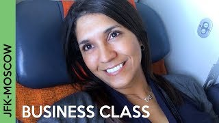 AEROFLOT flight to Moscow | JFK-SVO BUSINESS CLASS - Wow!!!