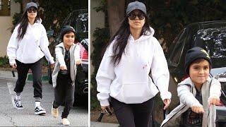 Kourtney Kardashian Sports Saint Pablo Sweats At Mason