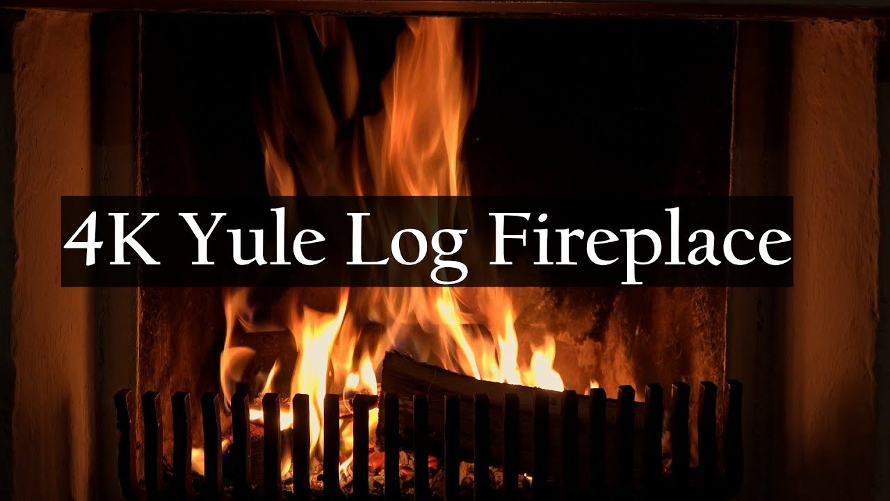 4k Yule Log Fireplace With Crackling Fire Sounds Youtube