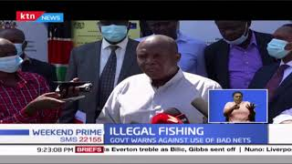 Illegal fishing gear worth Ksh 4M destroyed in Kisumu as government warns against use of bad nets