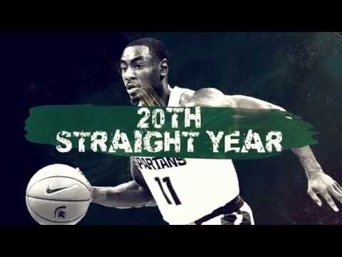 Michigan State Basketball enter the NCAA tournament with a 20-year streak