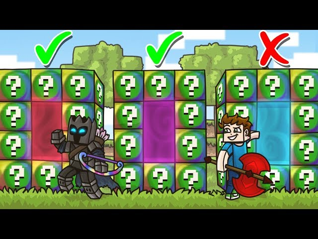 DO NOT Choose The WRONG SPIRAL LUCKY BLOCK PORTAL in Minecraft! - Lucky Block Portal Mini-Game