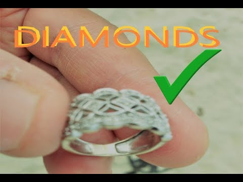 ENCUENTRO ANILLO GIGANTE DE DIAMANTES i found SUPER BIG DIAMOND RING metal detecting