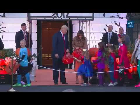 President Trump & Melania Participate in Halloween at the White House 10/30/17