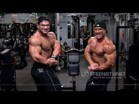 TRAILER: Bodybuilders Vlad Petric and Dominick Mutascio Train Arms  Weeks Out from NPC Nationals