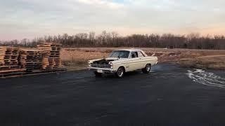 1965 Mercury Comet drag car 1st startup