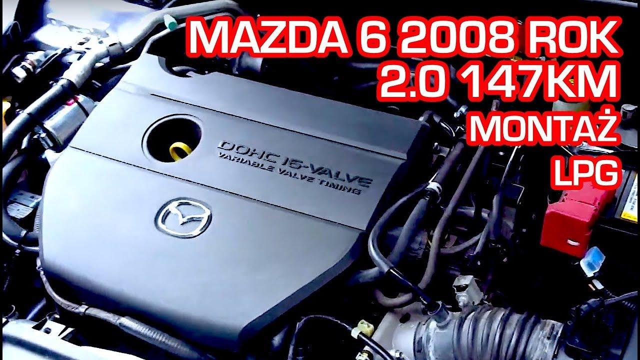 Montaż LPG Mazda 6 2008r 2.0 147KM w Energy Gaz Polska na gaz BRC SQ 32 OBD