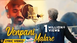 The Romance Of Power Paandi - Venpani Malare ft. Dhanush [Lyric Video] | Power Paandi | Sean Roldan