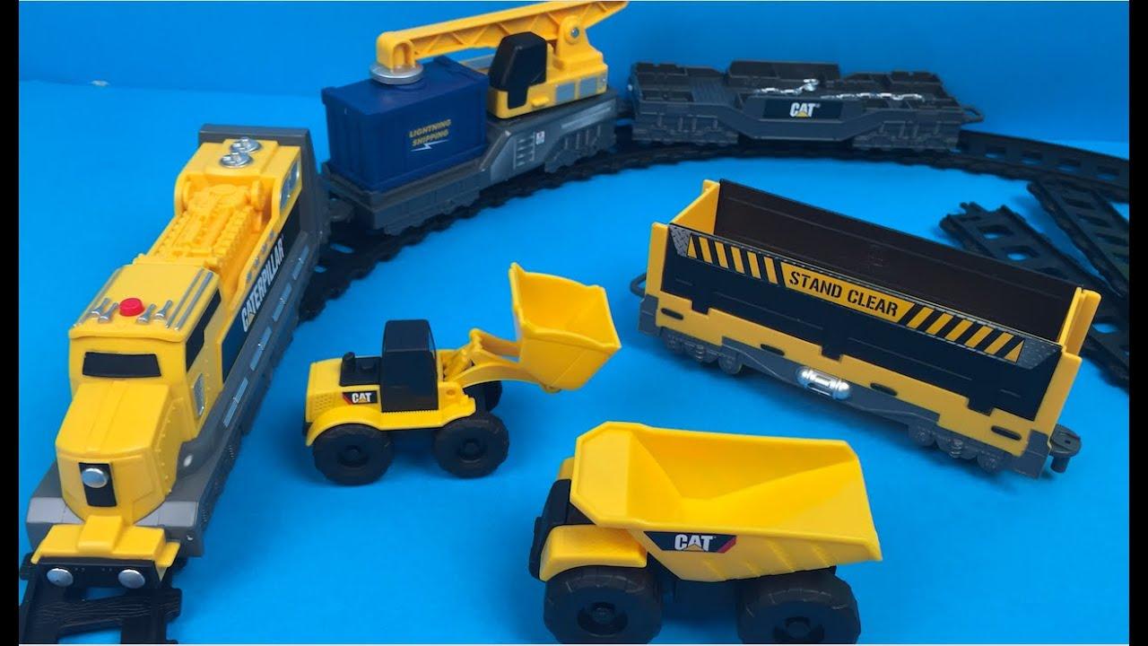 Caterpillar Iron Diesel Train Construction Toys For Kids Crane