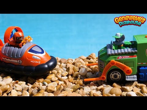 Paw Patrol Toy Learning Video for Kids - Adventure Bay Rescue Mission: Missing Cats & Everest!