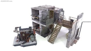 McFarlane Walking Dead Prison Catwalk, Upper & Lower Cells, Boiler Room review!