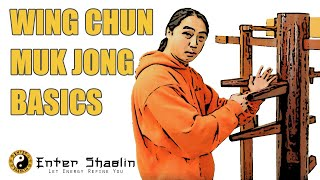Wing Chun Muk Jong (wooden Dummy) Beginners Training Drill Developing One Technique
