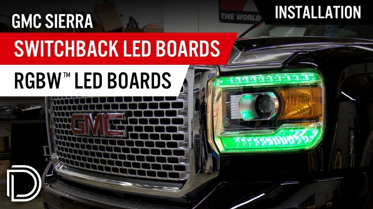 Gmc Acadia Drl Wiring Diagram Harness Schematics Hvac Diagrams How To Install Sierra Rgbw Switchback Led Boards By Diode Rh Youtube Com 2013