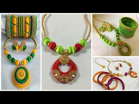 Silk Thread Jewellery Making |  Jewellery Designs 2018