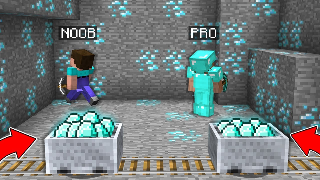 WHO CAN FIND MORE DIAMONDS IN THIS MINE? Minecraft - NOOB vs PRO