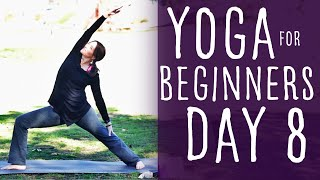 18 Minute Yoga For Beginners 30 Day Challenge Day 8 With Fightmaster Yoga