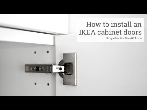 How to Install an IKEA Cabinet Door - YouTube