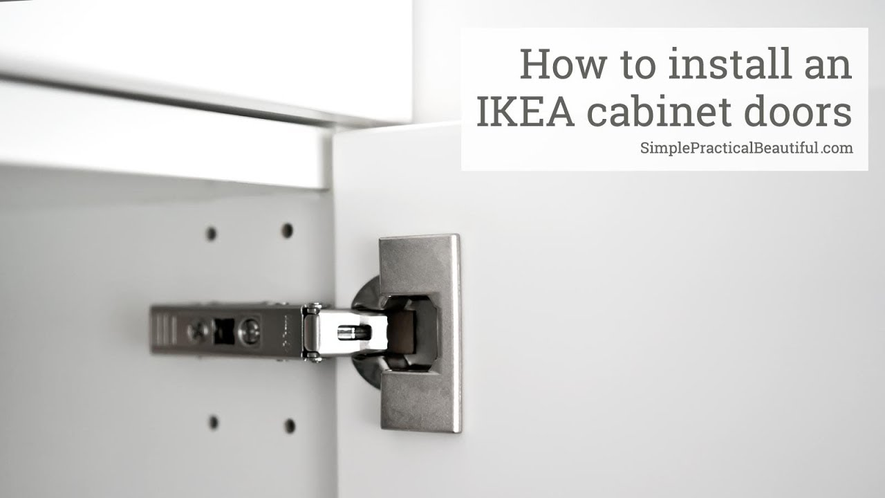 How To Install An Ikea Cabinet Door Youtube