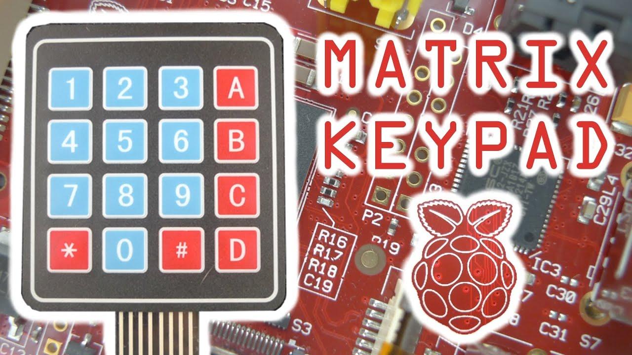 Membrane Matrix Keypad With The Raspberry Pi Youtube Wiringpi Pin Numbers B