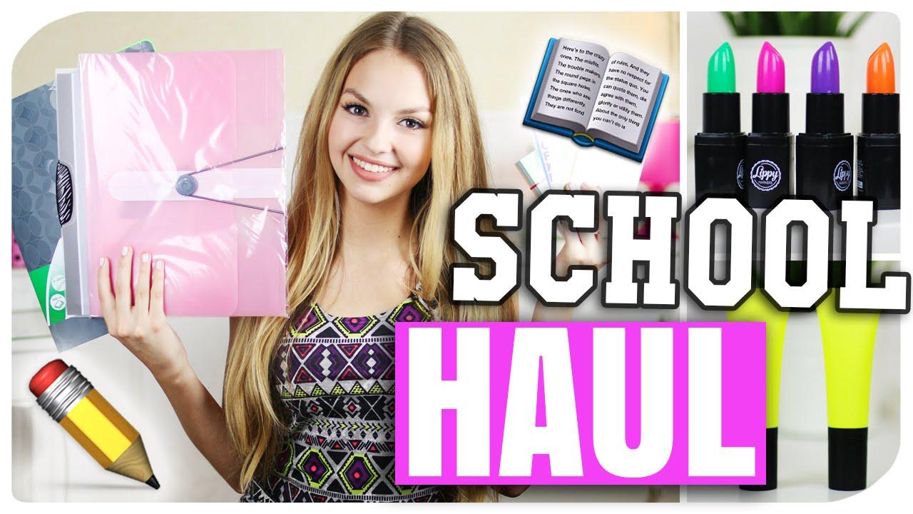 BACK TO SCHOOL SUPPLIES HAUL | NEUE Sachen für die SCHULE/ UNI ...