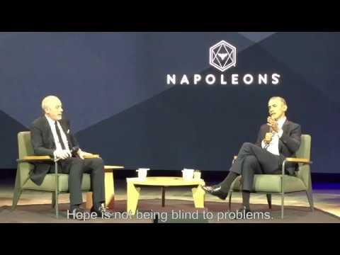 Barack Obama at Les Napoleons Event in Paris, France,  to the hope on Dec 2nd 2017