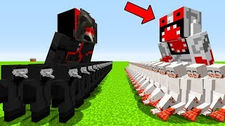 minecraft pe MOB BATTLE 1000 scp 096 VS scp 173 scp 049 bigfoot pocket edition secret base 4 shy guy