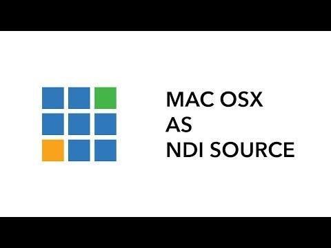 Tutorial: Mac OSX Desktop as a NDI source