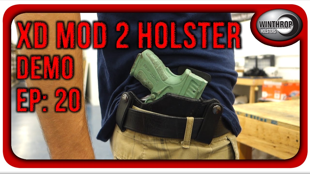 Winthrop Holsters Springfield XD Mod 2 IWB Leather Holster Demonstration