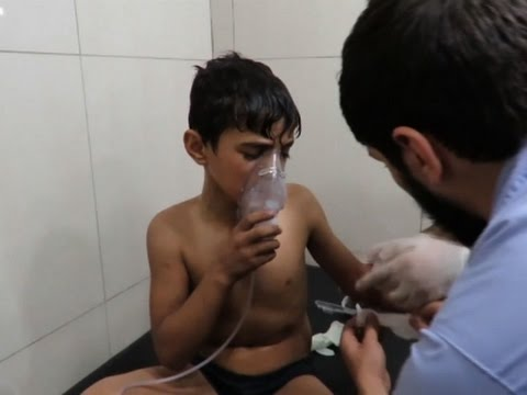 Raw: Suspected Chlorine Gas Attack in Aleppo