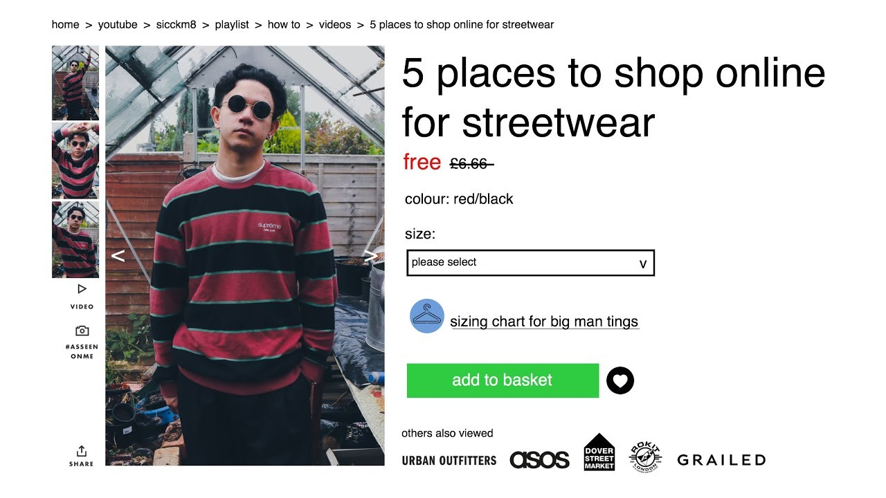 Top 5 places to shop online for streetwear youtube for Great places to shop online
