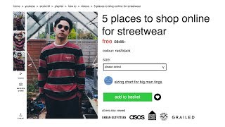 One of sicckm8's most viewed videos: TOP 5 PLACES TO SHOP ONLINE FOR STREETWEAR