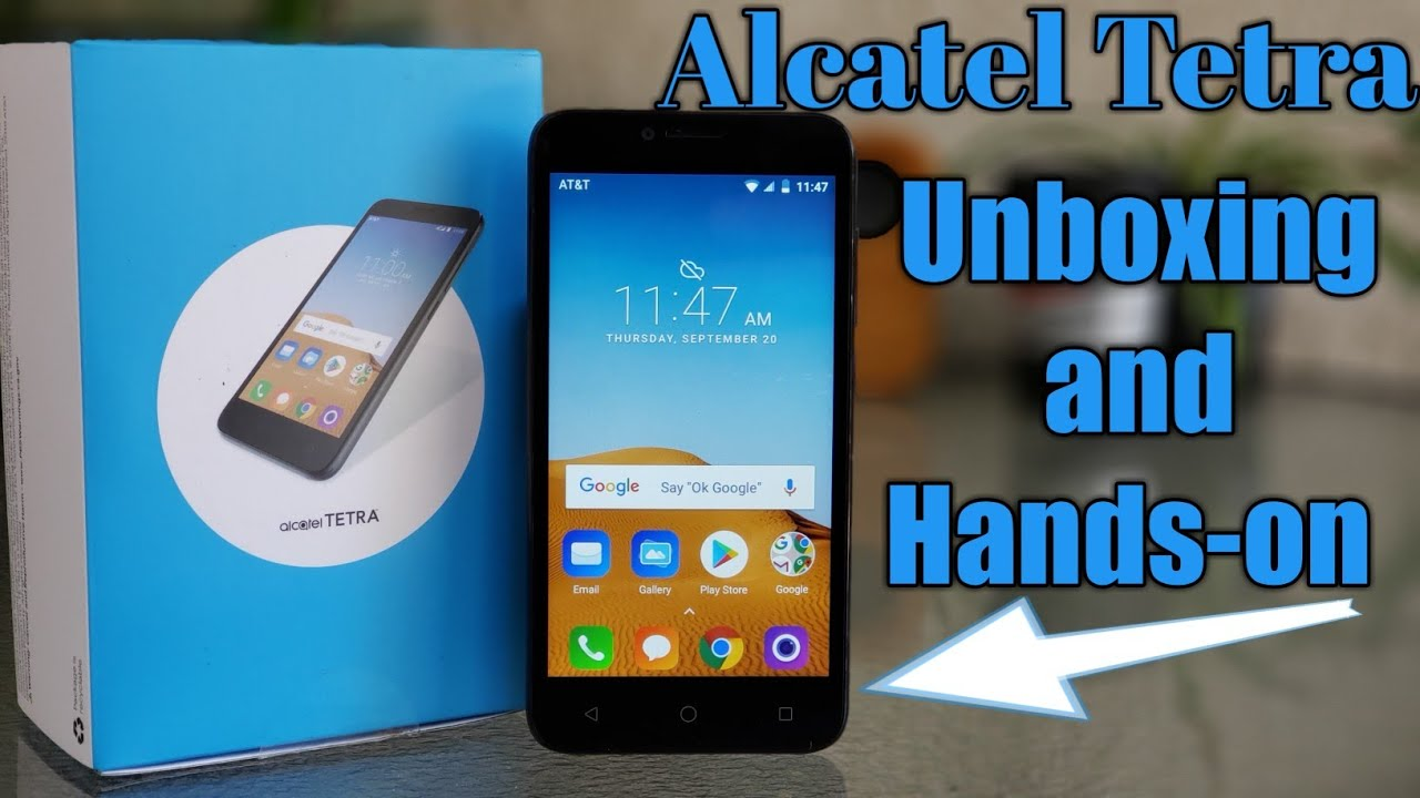 Alcatel Tetra AT&T Unboxing and Hands-on