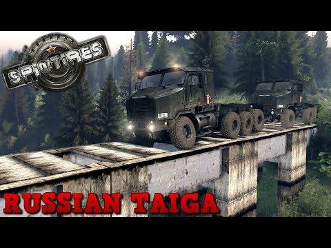 SpinTires | Russian Taiga | Map Mod | Oshkosh HET 8x8