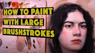 #3 Part How to start painting a portrait with oil colours