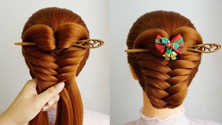 New Hair Style Bun With Stick Cute Hairstyle With Braids Updo Hairstyle Ideas New Hairstyle