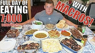 IIFYM Full Day of Eating WITH MACROS!! 7,000 Calories!