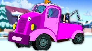 Wheels On The Tow Truck | Kindergarten Nursery Rhymes For Kids
