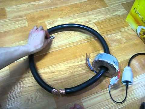 thick electric wire & toroidal transformer