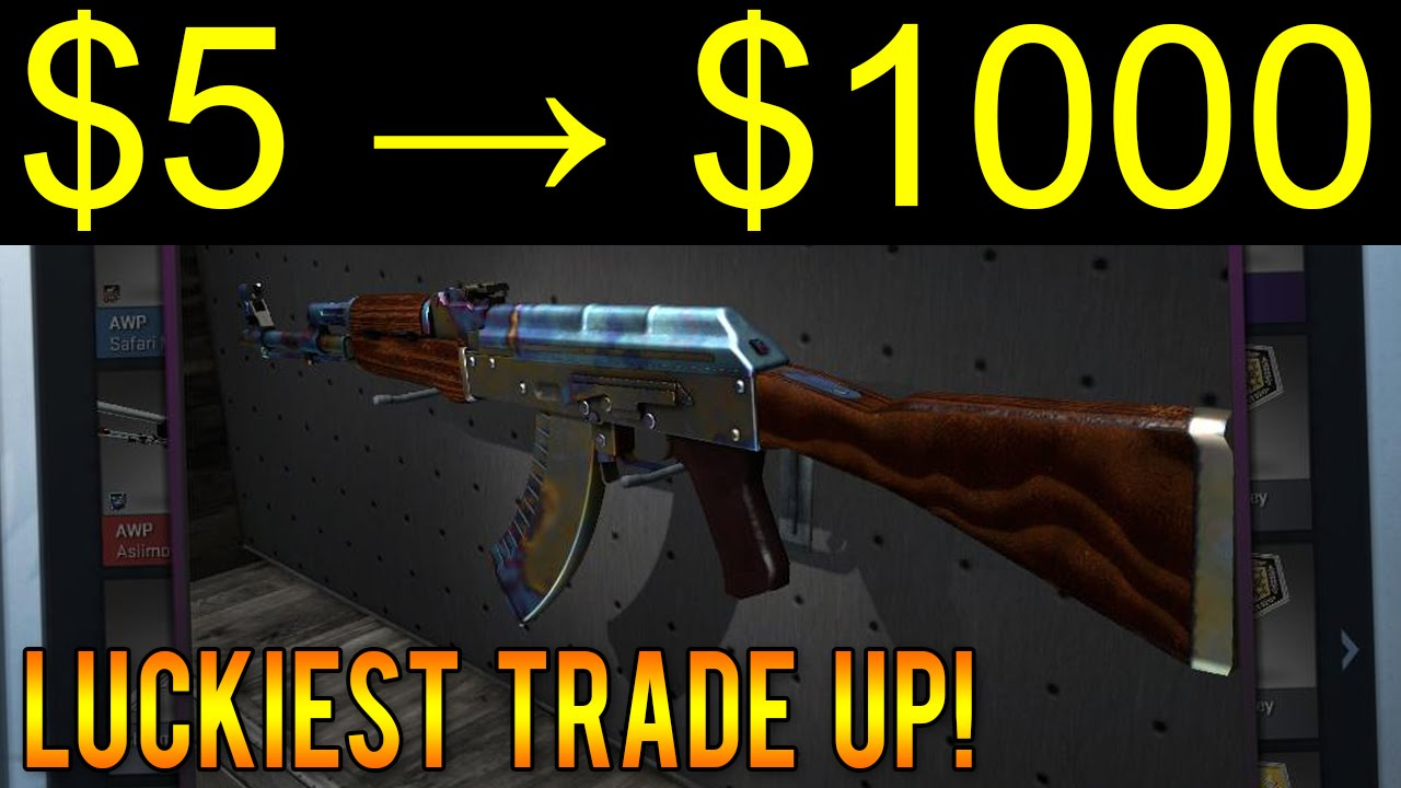 luckiest cs go trade up ever 5 to 1000 1 20 000 chance youtube. Black Bedroom Furniture Sets. Home Design Ideas
