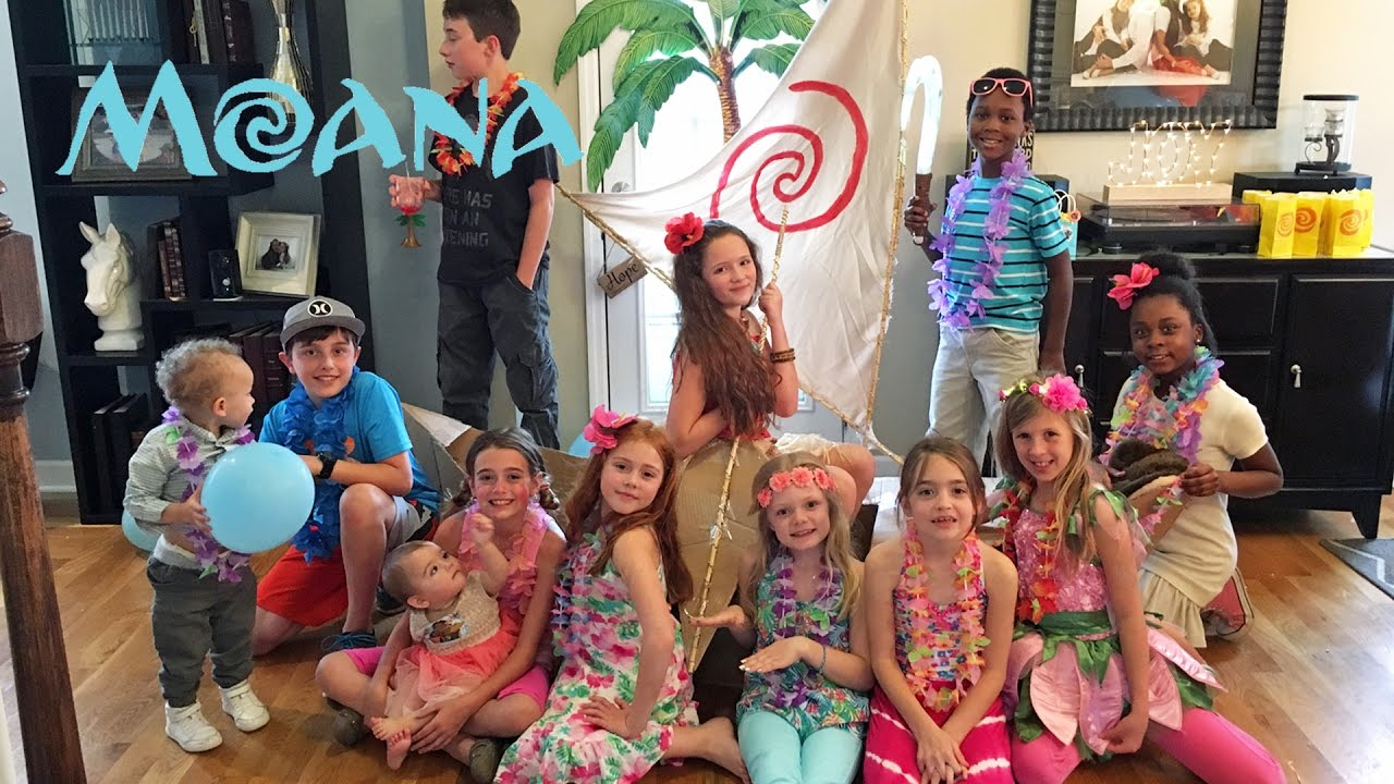 10 YEAR MOANA BIRTHDAY PARTY