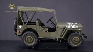 Jeep 1941 Willys MB With Roof - Welly (1:18)
