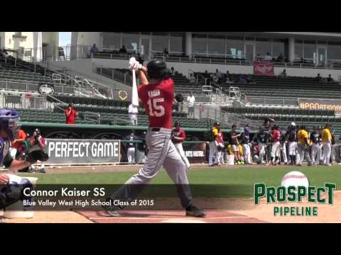 Connor Kaiser Prospect Video, SS, Blue Valley West High School Class of 2015