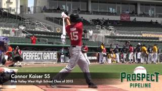 Connor Kaiser Prospect Video, SS, Blue Valley West High School Class of 2015