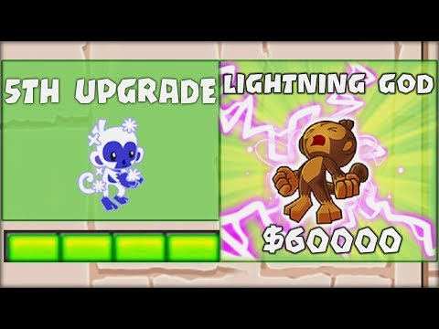 BRAND NEW OP LIGHTNING GOD TOWER !! | Bloons TD Battles Hack/Mod (BTD Battles)